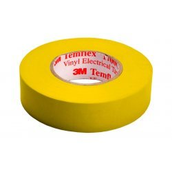 7100080342 Temflex 1300, желтая, универсальная изоляционная лента, 19мм х 20м х 0,13мм