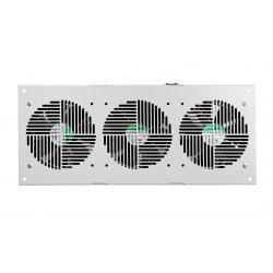 Вентиляторный модуль потолочный, 3 вентилятора с термодатчиком без шнура питания 35С ВМ-3П 48В ССД