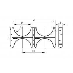 Держатель расстояния (кластер) для двустенных труб, д.125 (двойной) ССД