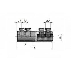 Соединитель болтовой рядный 4СБ-1 (25-50 мм2)