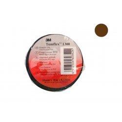 7100081326 Temflex 1300, коричневая, универсальная изоляционная лента, 15мм х 10м х 0,13мм