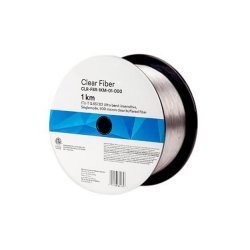 7100086525/80611498058 CLR-FBR-1KM-01-000 Clear Fiber Оптическое волокно, прозрачный буфер 900um, G.657 B3, катушка 1 км