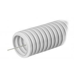 031600 Труба гофрированная ПВХ серая с/з д16 (100м/5500м уп/пал) Строитель