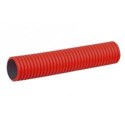 PR15.0033 Труба гофрированная двустенная ПНД гибкая тип 450 (SN12) с/з красная д110 (50м/уп) Промрукав
