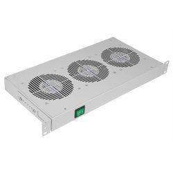 """Вентиляторный модуль , 3 вентилятора с термодатчиком без шнура питания 35С ВМ-3-19"""" ССД"""