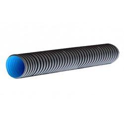 PR15.0203 Труба гофрированная двустенная ПНД гибкая тип 450 (SN8) стойкая к ультраф.не распр.горение с/з черная д160 (50м/уп)