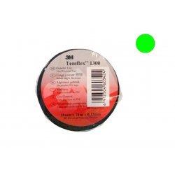 7100081321 Temflex 1300, зеленая, универсальная изоляционная лента, 15мм х 10м х 0,13мм