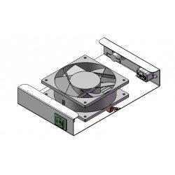 Вентиляторный модуль потолочный для ШКТ-НВ/НВ2-6U, 1 вентилятор с термодатчиком без шнура питания 35С ВМ-1П ССД
