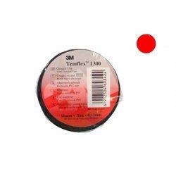 7100080350 Temflex 1300, красная, универсальная изоляционная лента, 15мм х 10м х 0,13мм