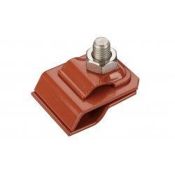 GALMAR GL-11545A — зажим на водосточный желоб для токоотвода (крашенная оцинкованная сталь)