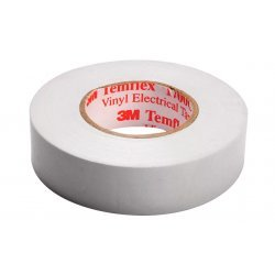 7100080344 Temflex 1300, белая, универсальная изоляционная лента, 19мм х 20м х0,13мм