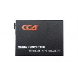 Медиаконвертер 100M, Tx1310/Rx1550 20km, RJ45 SC