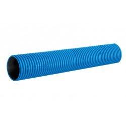 PR15.0189 Труба гофрированная двустенная ПНД жесткая тип 450 (SN8) синяя д160 6м (24м/уп) Промрукав
