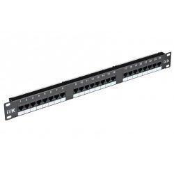 PP24-1UC5EU-D05 ITK 1U патч-панель кат.5Е UTP, 24 порта (Dual)